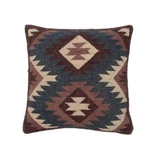 "Handmade 20"" Kilim Throw Pillow, Set of 2 (India)"