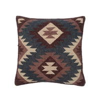Herat Oriental Handmade Indo Kilim 20'' Throw Pillows (Set of Two)