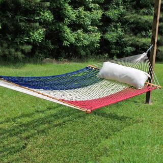Limited Edition Large Original DuraCord Rope Hammock - USA Red White and Blue