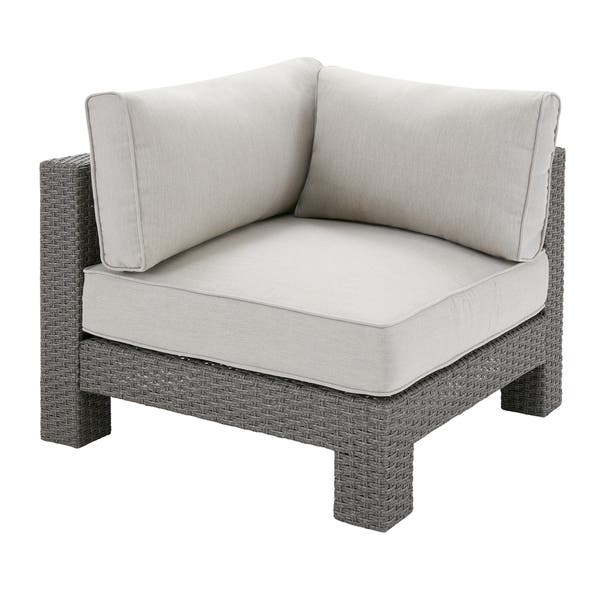 Surprising Shop Madison Park Perry Light Grey Patio Corner Sectional Pabps2019 Chair Design Images Pabps2019Com