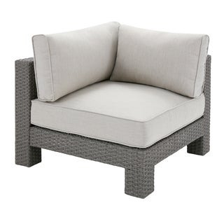 Madison Park Perry Light Grey Patio Corner Sectional Chair