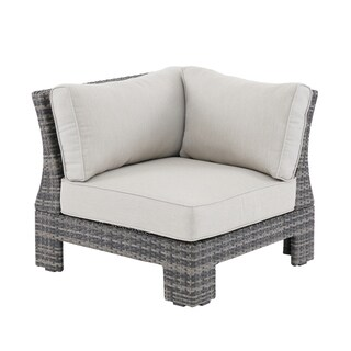 Madison Park Lenox Dark Grey/ Grey Patio Corner Sectional Chair