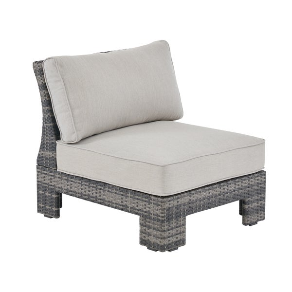 Shop Madison Park Lenox Dark Grey/ Grey Outdoor Sectional Lounge ...