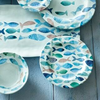 TAG Fish Melamine Salad Plate Set of 4