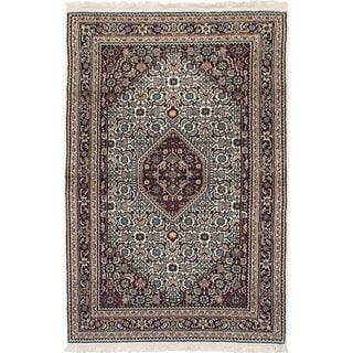 Ecarpetgallery Hand-Knotted Bijar Ivory  Wool Rug (3'10 x 5'11)