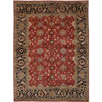 Ecarpetgallery Hand-Knotted Serapi Heritage Red  Wool Rug (9'0 x 12'0)