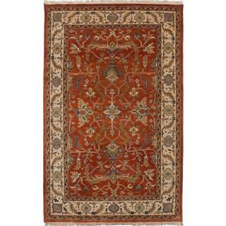 Ecarpetgallery Hand-Knotted Heirloom Brown  Wool Rug (5'4 x 8'4)
