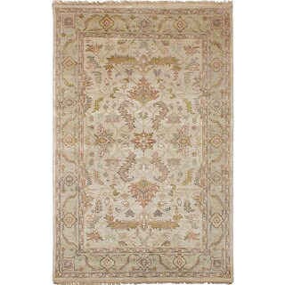 Ecarpetgallery Hand-Knotted Heirloom Ivory Wool Rug (5'5 x 8'4)