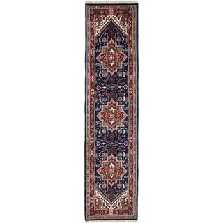Ecarpetgallery Hand-Knotted Royal Heriz Blue  Wool Rug (2'6 x 10'6)