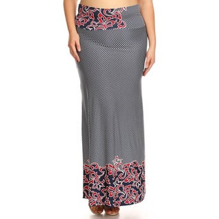 Women's Mixed Native Floral Maxi Skirt