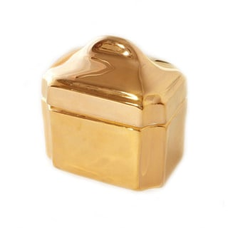 CRU by Darbie Angell Monaco 24kt Gold Sugar Bowl