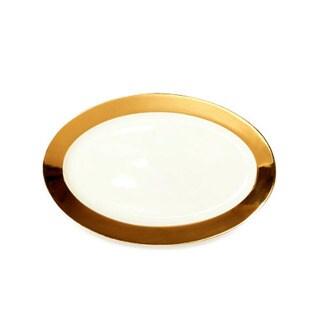 Darbie Angell Monaco 24kt Gold Oval Platter