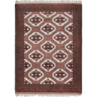 Ecarpetgallery Hand-Knotted Turkoman Brown  Wool Rug (4'5 x 6'0)