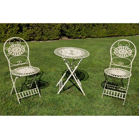Alpine Corporation 3-Piece Floral Bistro Set