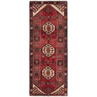 Ecarpetgallery Hand-Knotted Hamadan Red  Wool Rug (3'9 x 9'5)