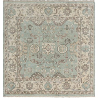 Ecarpetgallery Hand-Knotted Royal Ushak Blue Wool Rug (6'10 x 7'1)