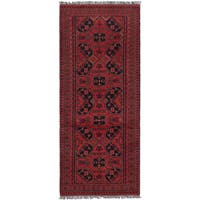 Ecarpetgallery Hand-Knotted Finest Khal Mohammadi Red  Wool Rug (2'7 x 6'3)