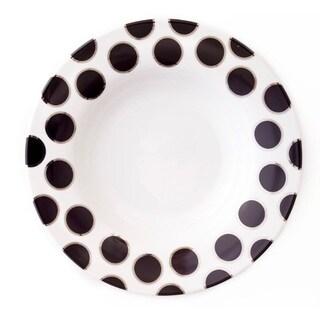 Darbie Angell Black Pearl Rim Soup Bowl