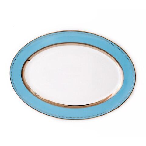 Darbie Angell Lauderdale Oval Serving Platter