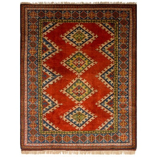Ecarpetgallery Hand-Knotted Antique Shiravan Red  Wool Rug (6'7 x 8'7)