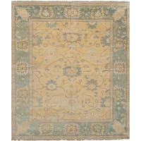 Ecarpetgallery Hand-Knotted Royal Ushak Yellow  Wool Rug (8'2 x 9'11)