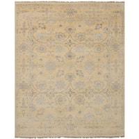 Ecarpetgallery Hand-Knotted Royal Ushak Ivory  Wool Rug (7'11 x 9'10)