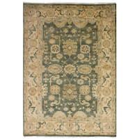 Ecarpetgallery Hand-Knotted Royal Ushak Grey  Wool Rug (6'0 x 8'10)