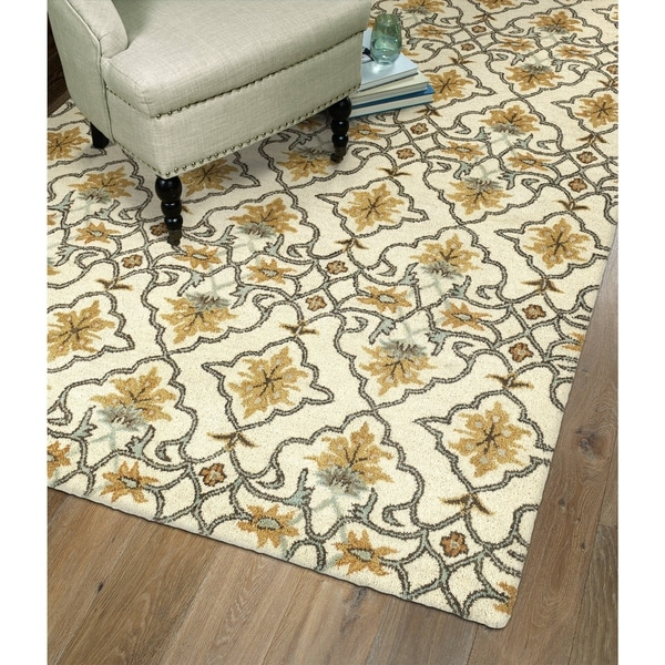 Shop Hand-Tufted Christopher Imperial Beige Wool Rug
