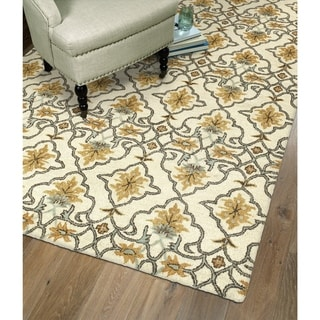 Hand-Tufted Christopher Imperial Beige Wool Rug (9' x 12')