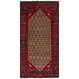 Ecarpetgallery Hand-Knotted Koliai Brown, Red Wool Rug (4'2 x 8'7)