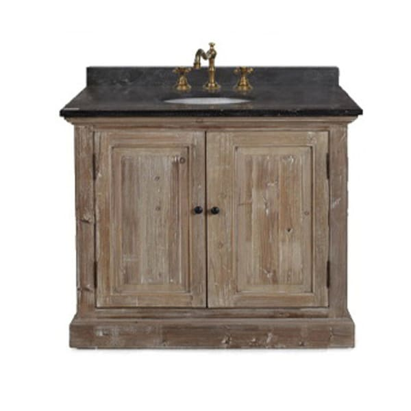 Shop rustic style 36 inch single sink bathroom vanity with dark limestone top free shipping for 36 inch rustic bathroom vanity