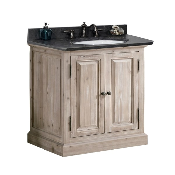 Shop Rustic Style 36 inch Single Sink Bathroom Vanity with ...