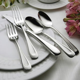 Oneida Satin Sand Dune Stainless Steel 65-Piece Flatware Set - Service for 12