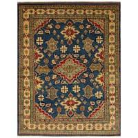 Ecarpetgallery Hand-Knotted Finest Gazni Blue  Wool Rug (4'11 x 6'7)