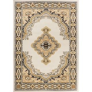 Eastgate Traditional Medallion Ivory Area Rug (8'2 x 9'10 )