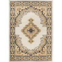 "Eastgate Traditional Medallion Ivory Area Rug - 8'2"" x 9'10"""