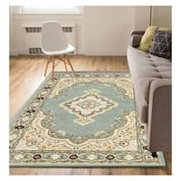 "Eastgate Traditional Medallion Blue Area Rug - 8'2"" x 9'10"""