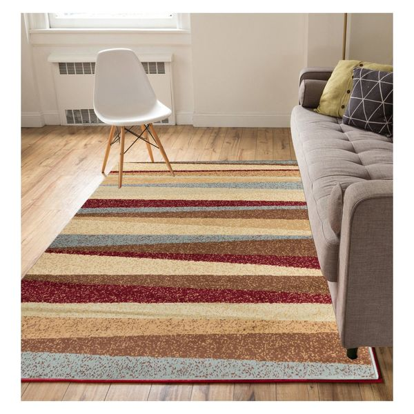 "Well Woven Eastgate Modern Stripe Multi Color Area Rug - 8'2"" x 9'10"""