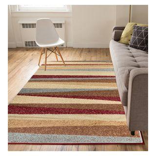 Eastgate Modern Stripe Multi Color Area Rug (8'2 x 9'10)