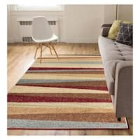 "Eastgate Modern Stripe Multi Color Area Rug - 8'2"" x 9'10"""