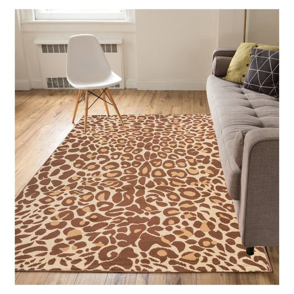 "Well Woven Eastgate Modern Animal Print Leopard Brown Area Rug - 8'2"" x 9'10"""