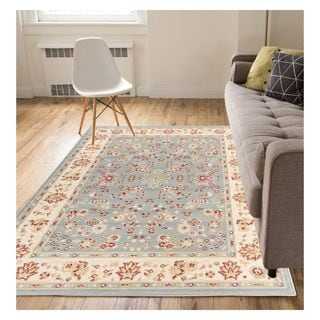 Eastgate Traditional Oriental Classic Blue Area Rug (8'2 x 9'10)