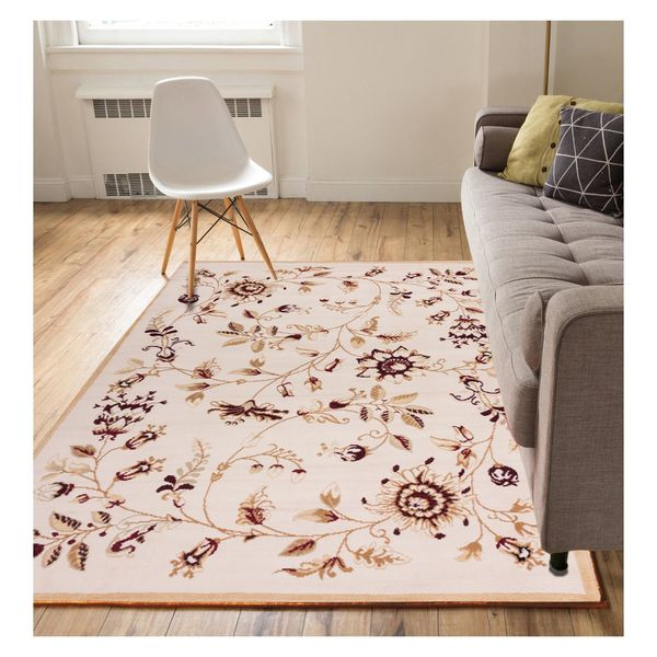 "Eastgate Traditional French Country Soft Floral Gold Area Rug - 8'2"" x 9'10"""