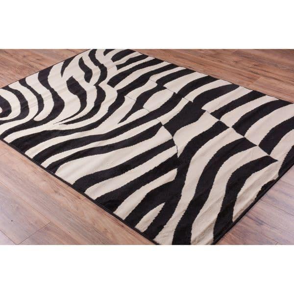 Animal Print Novelty Zebra Black Cream