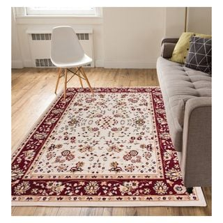 Eastgate Traditional Oriental Classic Ivory Area Rug (8'2 x 9'10)