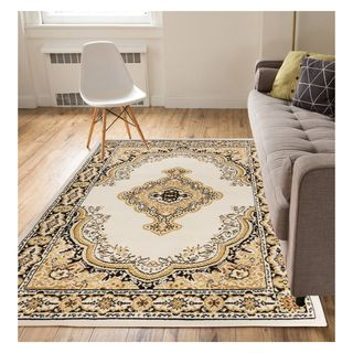 Eastgate Traditional Medallion Ivory Area Rug (5' x 7')