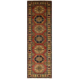 Hand-knotted Finest Gazni Copper Wool Rug - 2'9 x 9'8