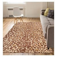"Eastgate Modern Animal Print Leopard Brown Beige Area Rug - 5'3"" x 7'3"""