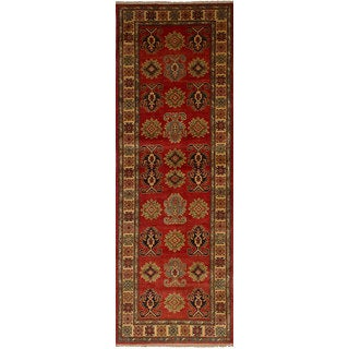 Ecarpetgallery Hand-Knotted Finest Gazni Red  Wool Rug (2'7 x 8'6)