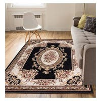 "Eastgate Traditional French Country Black Area Rug - 5'3"" x 7'3"""